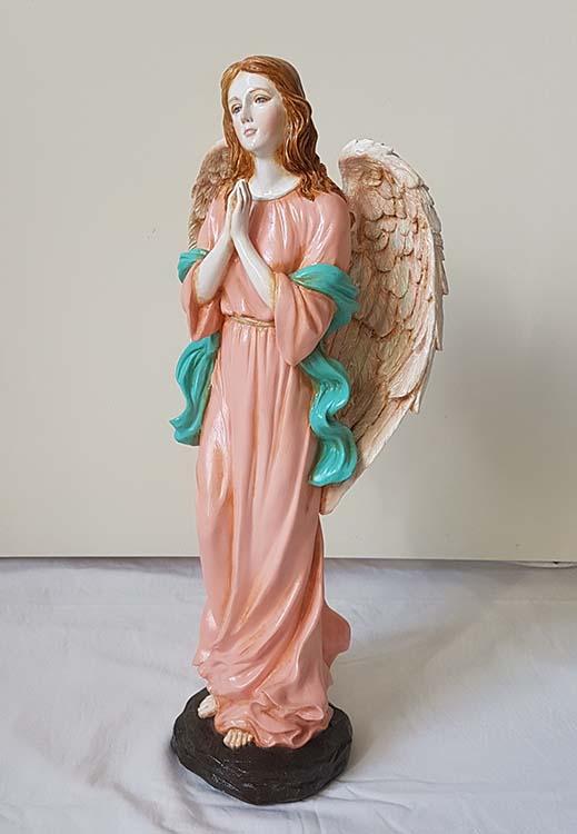 Staande Biddende Art Angel Urn, Handgeschilderd (2.5 liter)