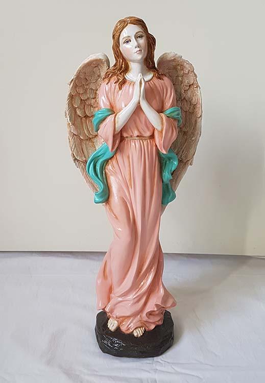 Staande Biddende Art Angel Dierenurn, Handgeschilderd (2.5 liter)