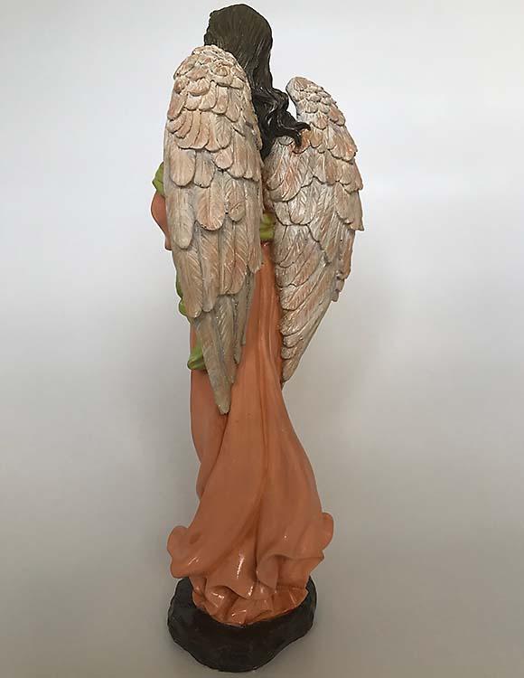 Staande Biddende Engel Dierenurn, Handgeschilderd (2.5 liter)