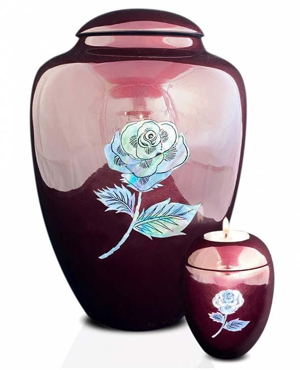 Grote Glasfiber Urn Roos Bordeaux (3.4 liter)