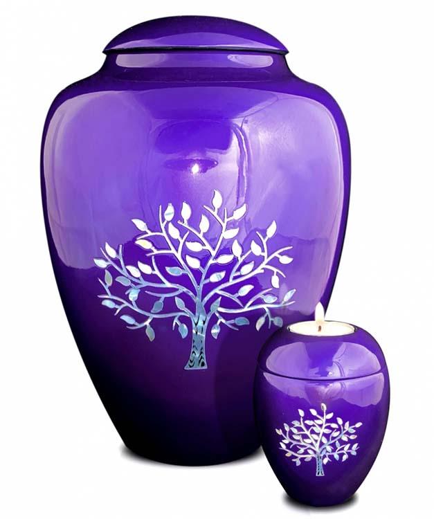 Kleine Kaarshouder Urn Levensboom Paars (0.1 liter)