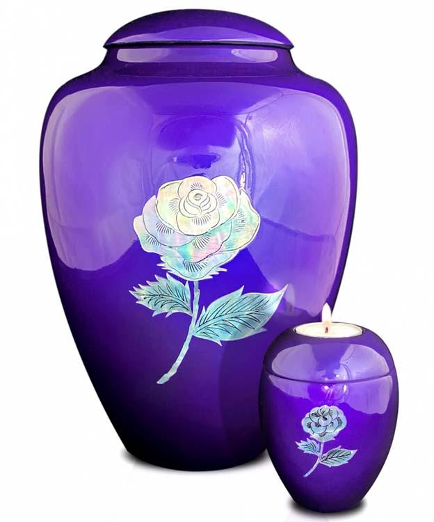 Grote Glasfiber Urn Roos Paars (3.4 liter)