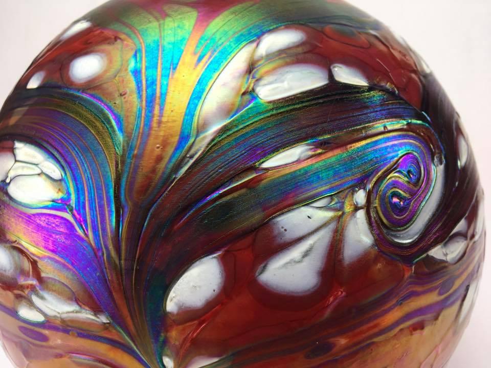 Grote Glazen Bal Dieren Urn Elements Lava (4 liter)