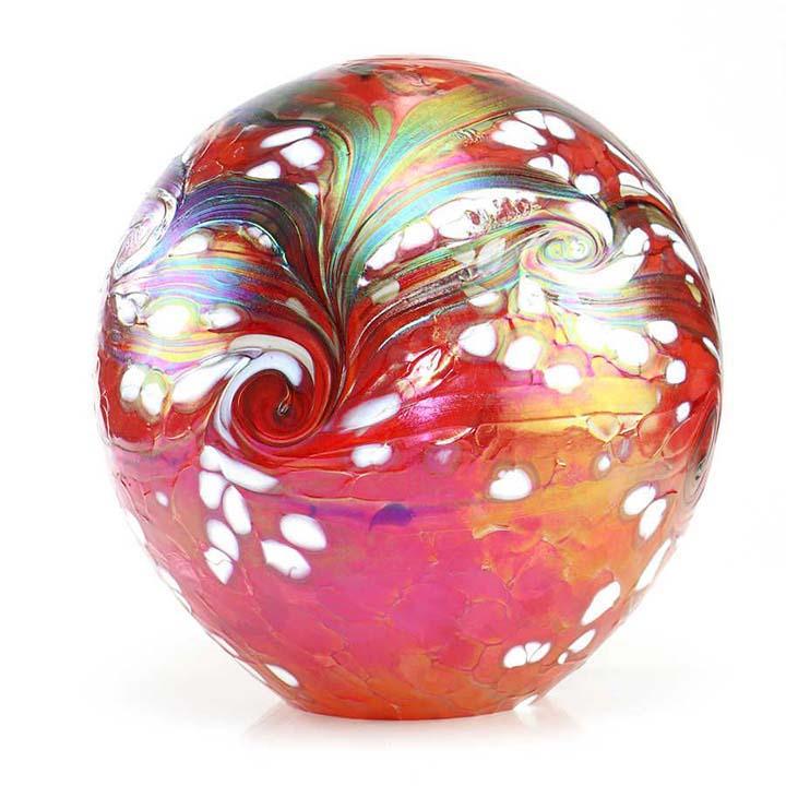 Grote Glazen Bal Dieren Urn Elan Red (4 liter)