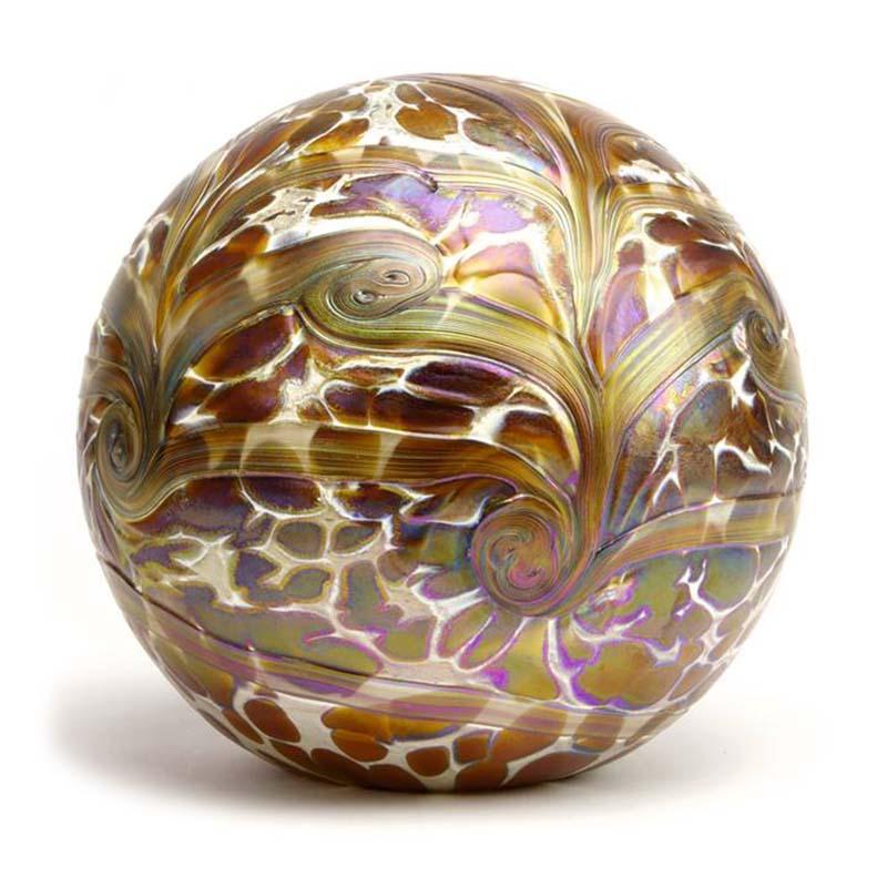 Grote Kristalglazen Bol-Urn Elan Gold (4 liter)