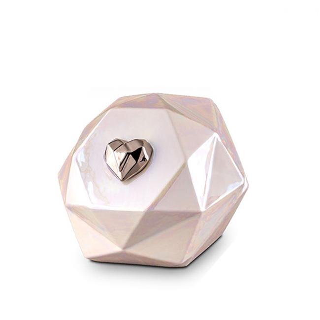 Grote Keramische Diamant Urn (3.5 liter)