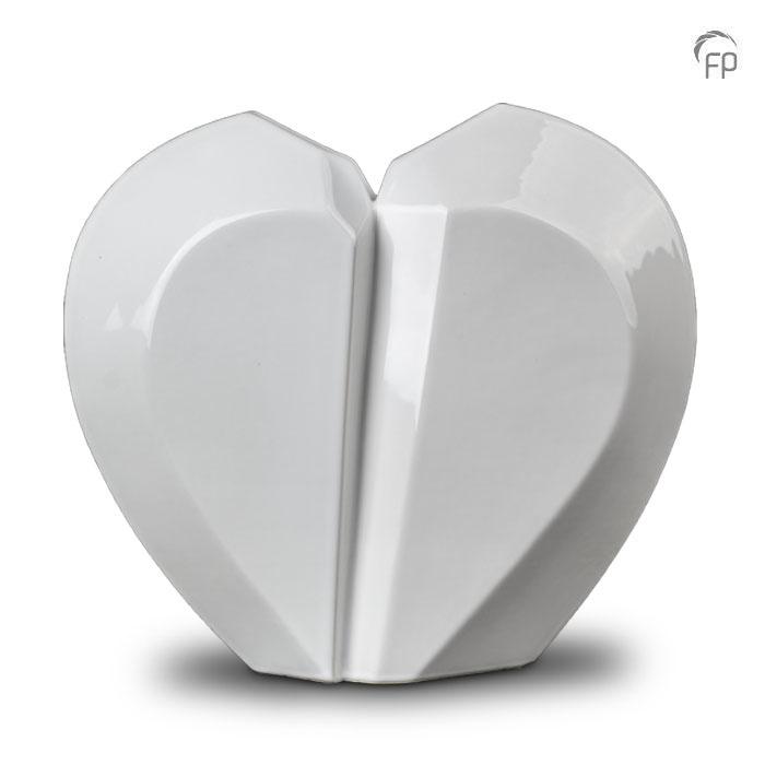 Extra Grote Keramische Gebroken Hart Urn (5.1 liter)