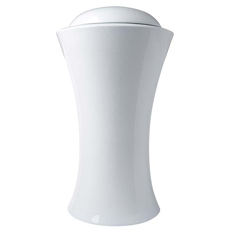 Grote Witte Vaas Urn Slanke Taille (4.5 liter)