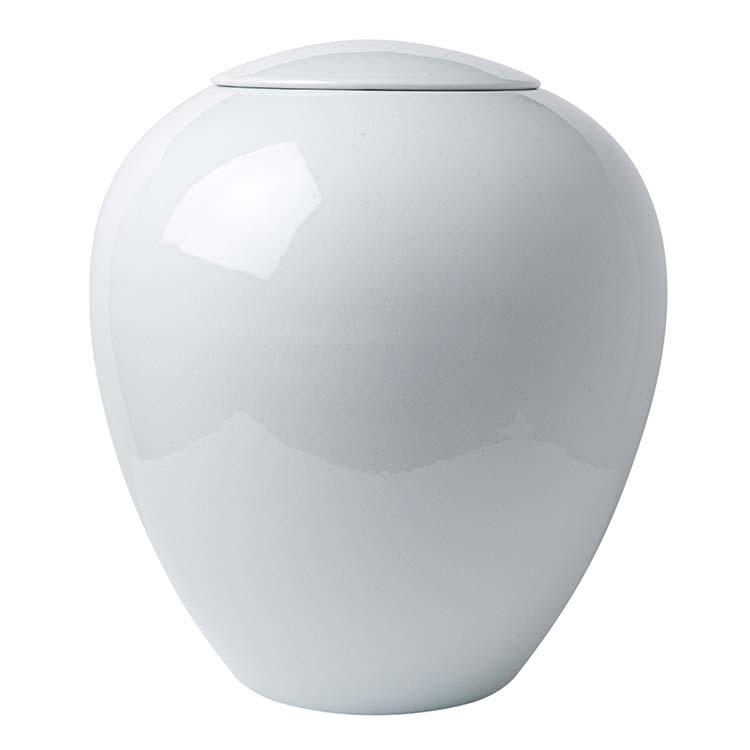 Grote Witte Bolle Vaas Urn (3.5 liter)