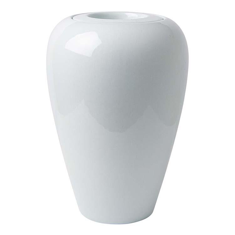 Kleine Witte Vaas Urn Taps Aflopend (1 liter)