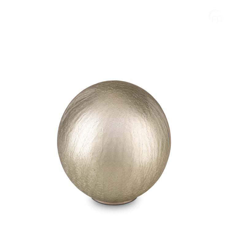 Grote Bal Dierenurn Zilver Craquele (3.5 liter)