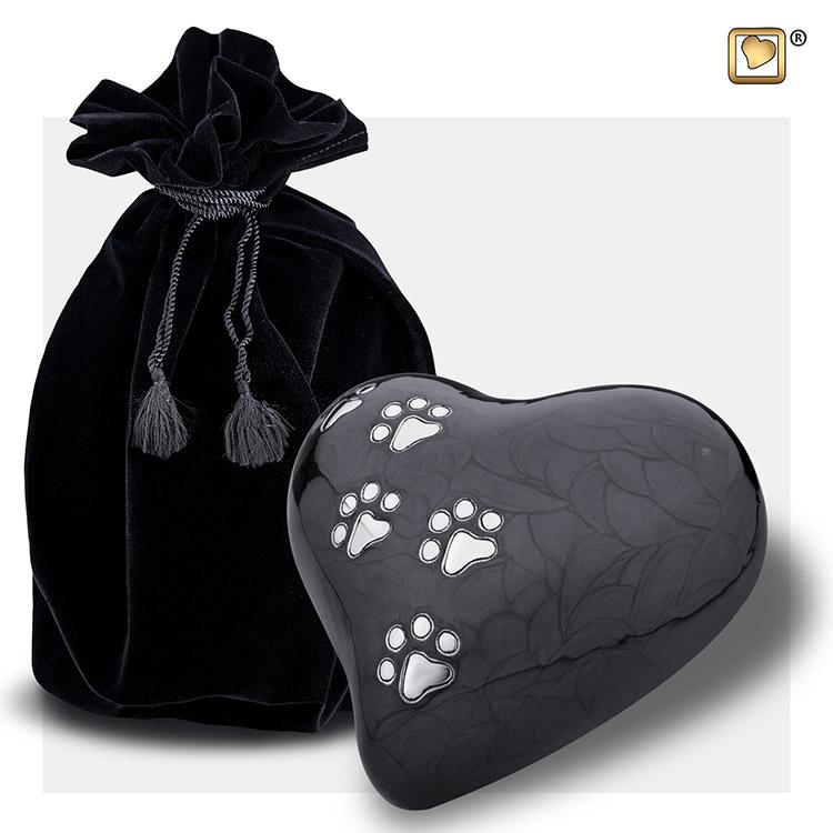 Large Hart Dierenurn Midnight Black (1 liter)