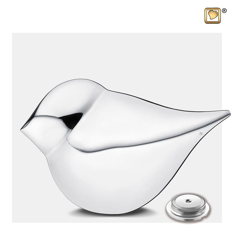 Zilveren Soulbird Duo Urnen Set (7 liter totaal)