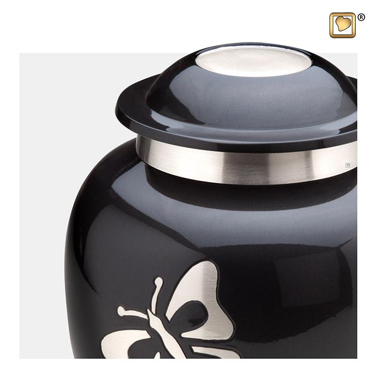 Grote LoveUrns Urn Midnight, Klassieke Vlinders (3.2 liter)