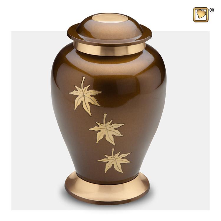 Grote LoveUrns Urn Bronze, Vallende Bladeren (3.2 liter)