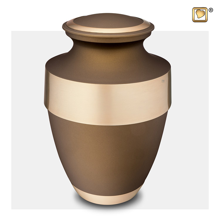 Grote LoveUrns Urn Brons - Matgouden Sierrand (3.2 liter)