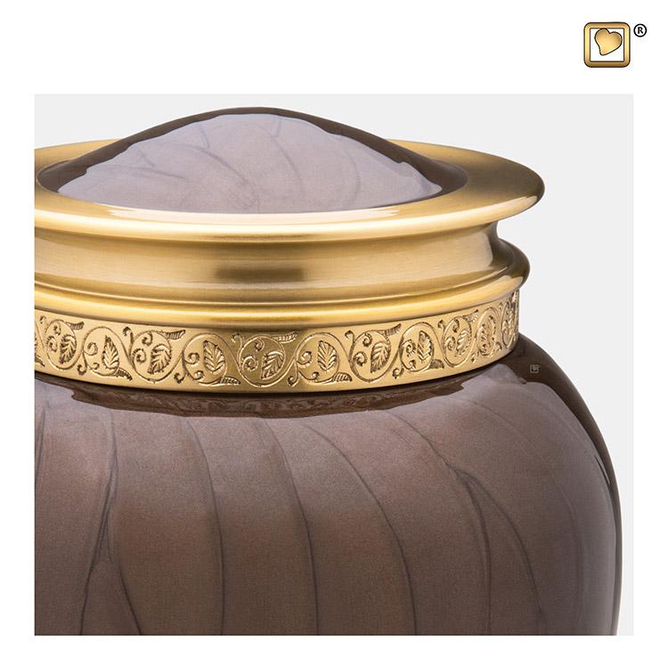 Grote Blessing Urn Bruinmarmer, Gouden Sierrand (3.8 liter)