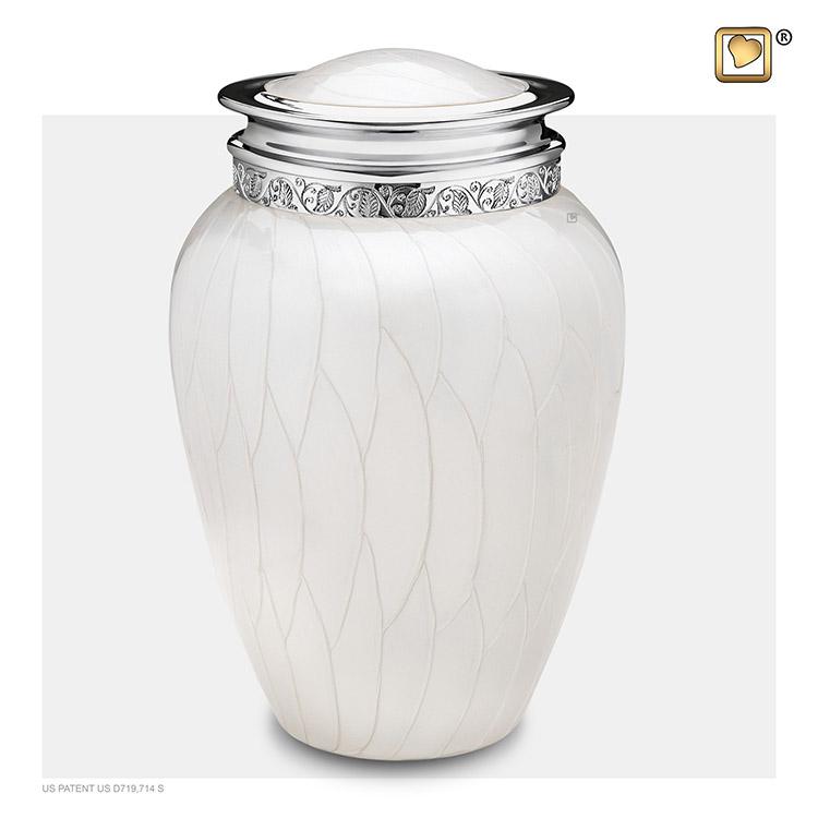 Grote Blessing Urn Witmarmer, Zilver Sierrand (3.8 liter)