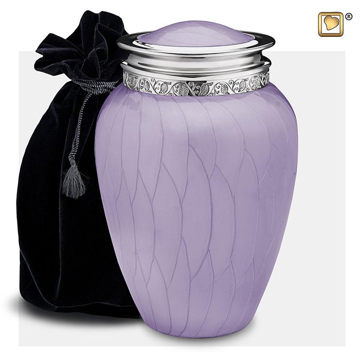 Grote Blessing Urn Lavendel Gemarmerd, Zilver (3.8 liter)