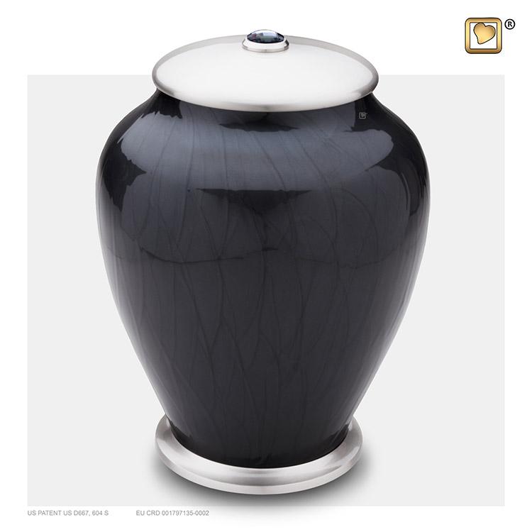 LoveUrns Simplicity Urn Zwartmarmer (3.7 liter)