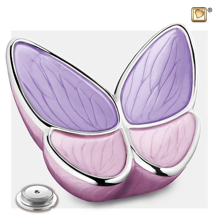 Grote Roze LoveUrns Butterfly Dieren-Urn (3.2 liter)