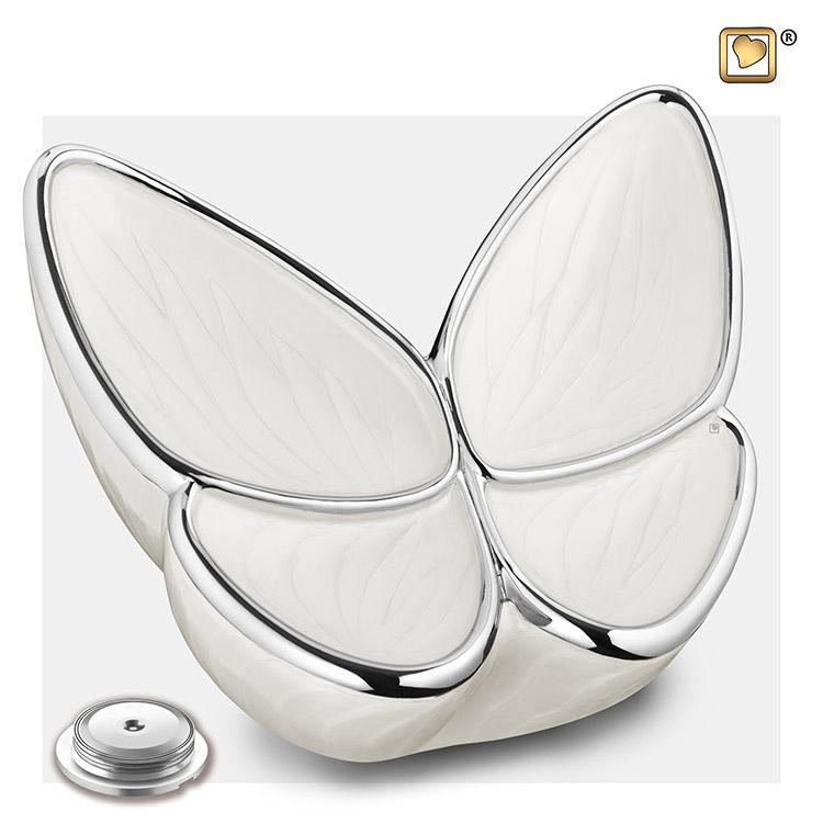 Butterfly Urnen Voordeelset Wit (3.2 en 0.05 liter)