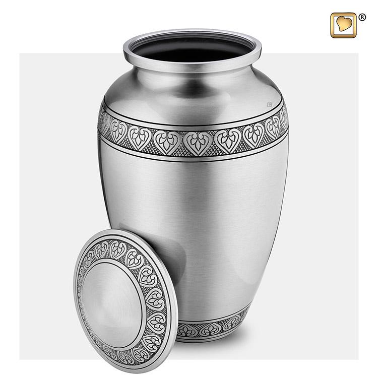 Grote LoveUrns Urn Klassiek Geborsteld Tin (3.4 liter)