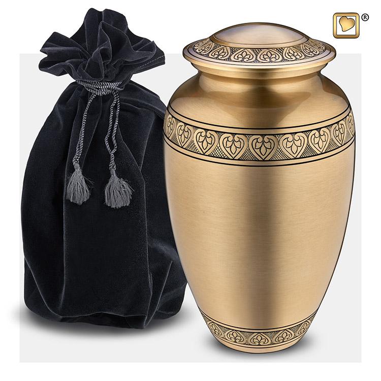 Grote LoveUrns Urn Klassiek Geborsteld Goud (3.4 liter)