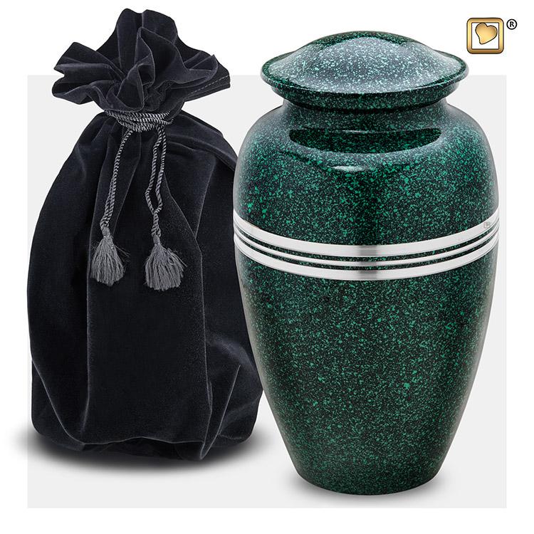 Grote LoveUrns Urn Klassiek Gespikkeld Emerald (3.4 liter)