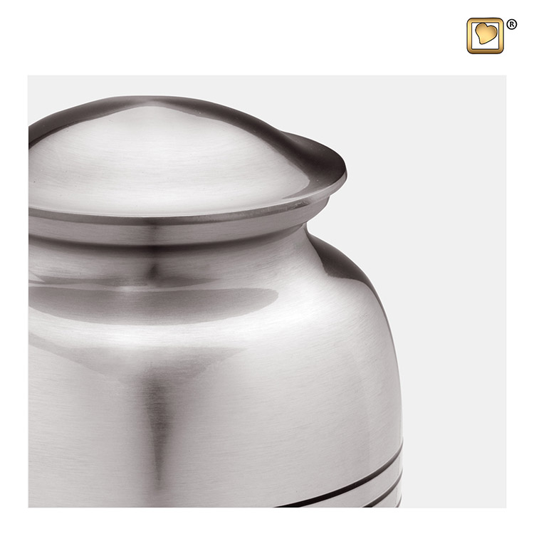 Grote LoveUrns Radiance Urn Classic Silber (3.4 liter)