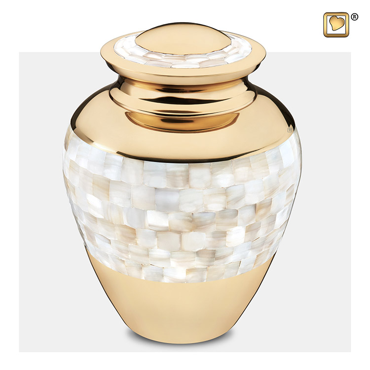 Grote LoveUrns Mother of Pearl Urn (3.6 liter)
