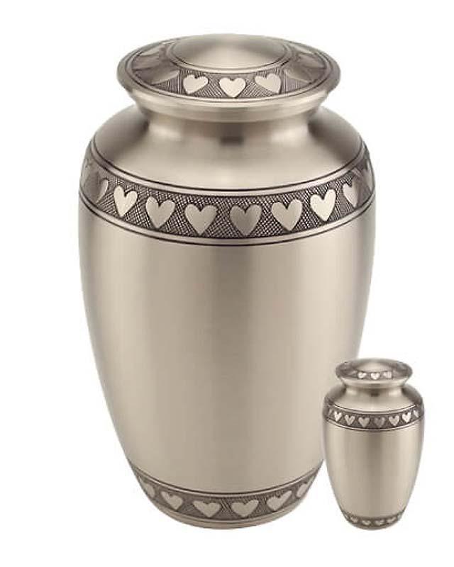 Grote Messing Urn Klassiek Tin Hartjes (3.5 liter)