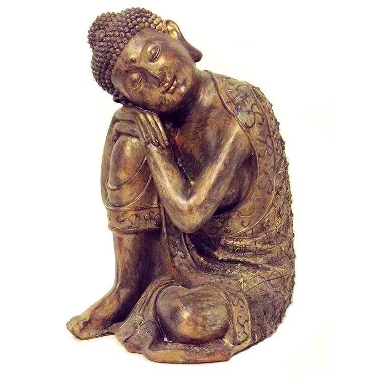 Grote Buddha Dierenurn Indische Buddha Darkgold (3.5 liter)