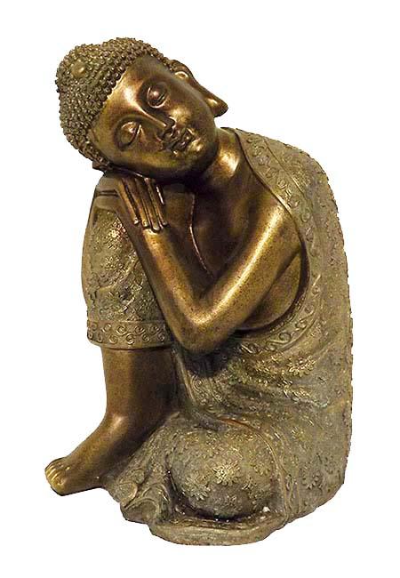 Grote Buddha Urn Slapende Indische Buddha Brons (3.5 liter)