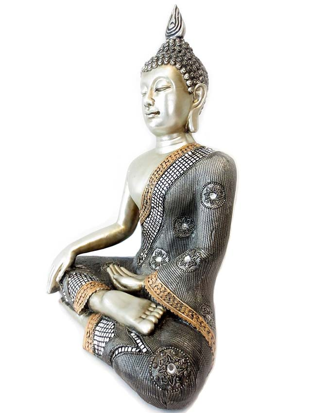 Extra Grote Thaise Meditatie Boeddha Urn (ca. 5 liter)