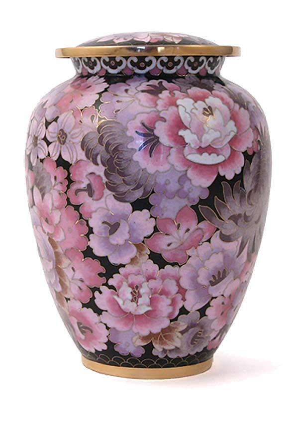 Elite Floral Blush Cloisonne Urn (3.5 liter)