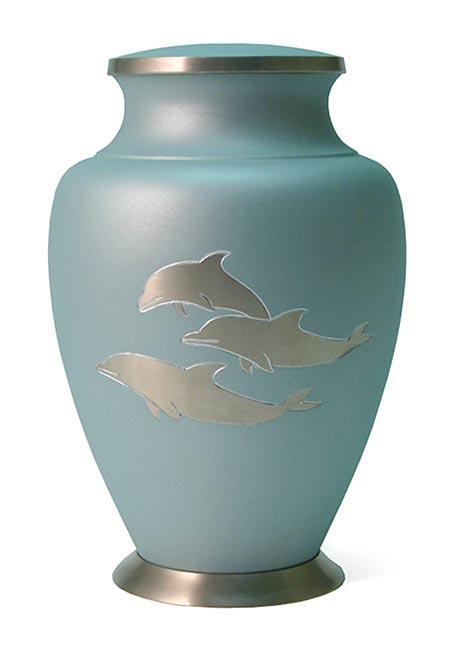 Grote Messing Aria Dolfijnen Urn (3.5 liter)