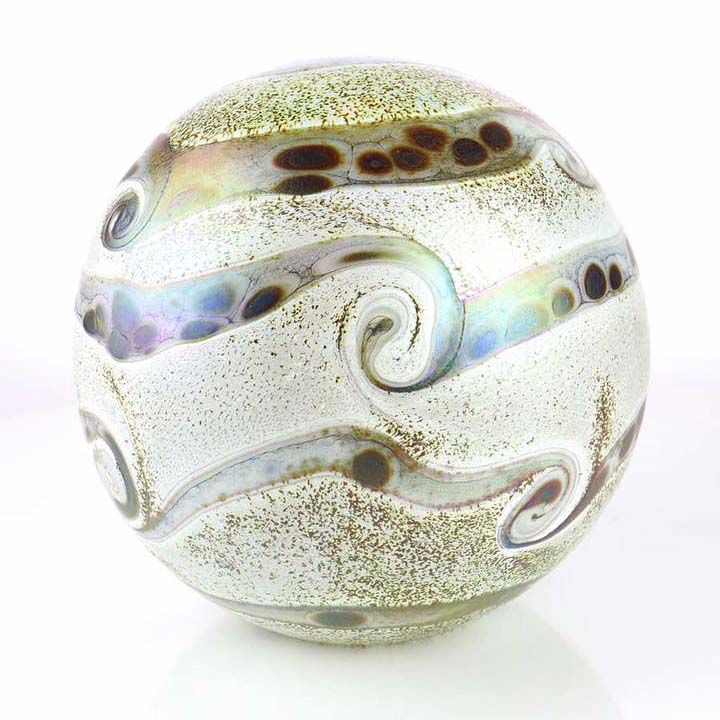 Kleine Glazen Bal Dieren Urn Elements Ivory (0.5 liter)
