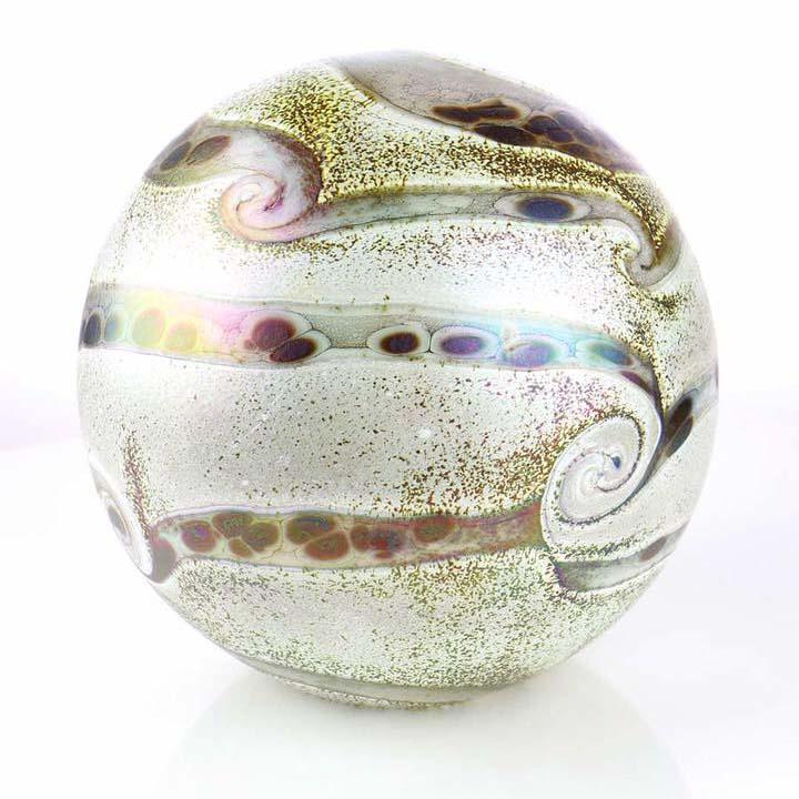 Kleine Glazen Bal Dieren Urn Elan Ivory (0.5 liter)