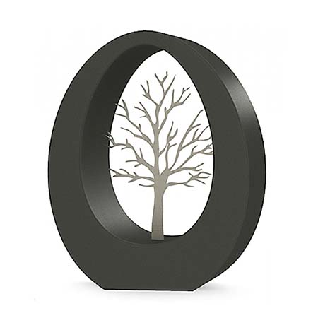 Groot RVS Oval Levensboom Asbeeld (3.5 liter)