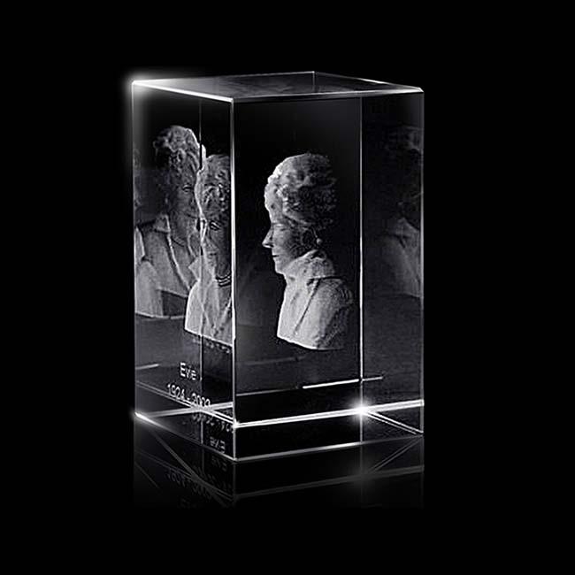 Kristalglas Rechthoek met Lasergravure (13 cm.)