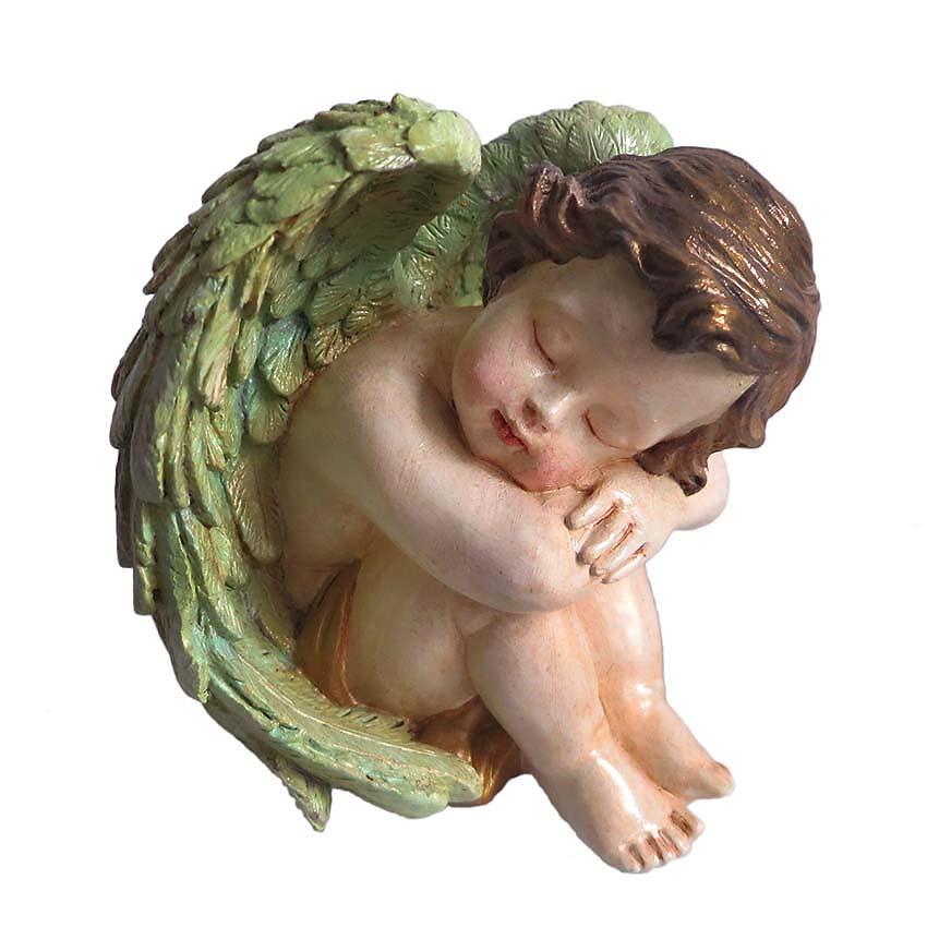Handbeschilderde Engel Urn Voor Altijd Slapend Links (0.3 liter)
