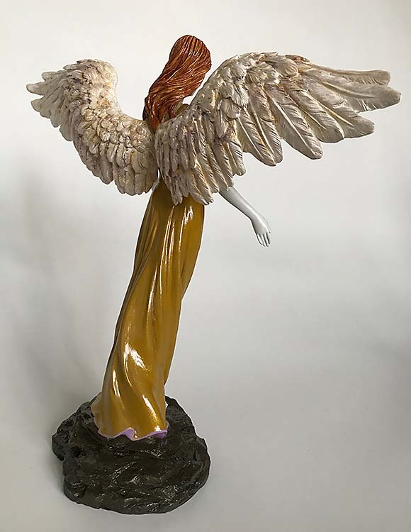 Handbeschilderde Angel of Peace Mini Engel Urn (0.01 liter)
