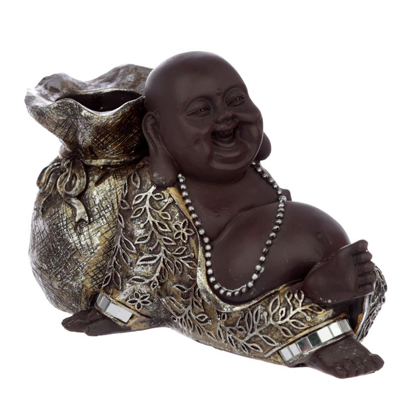 Happy Boeddha Dierenurn, Liggend met Kaarshouder (0.7 liter)