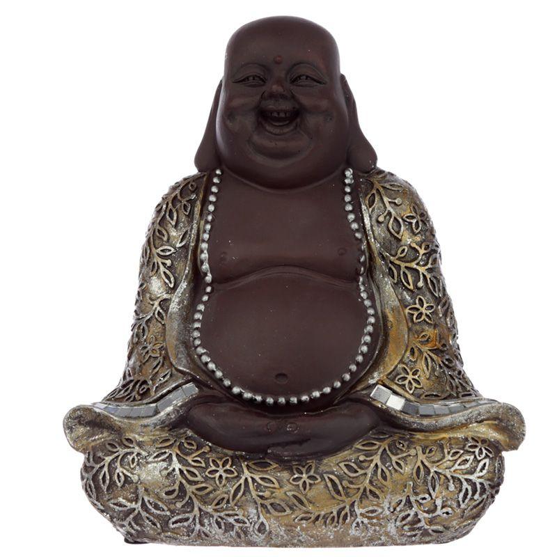 Chinese Boeddha Dierenurn, Lachend in Lotuszit (0.8 liter)