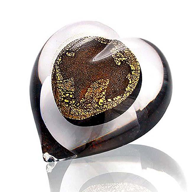 Kristalglazen Hart Urn 24 Karaats Bladgoud (0.05 liter)