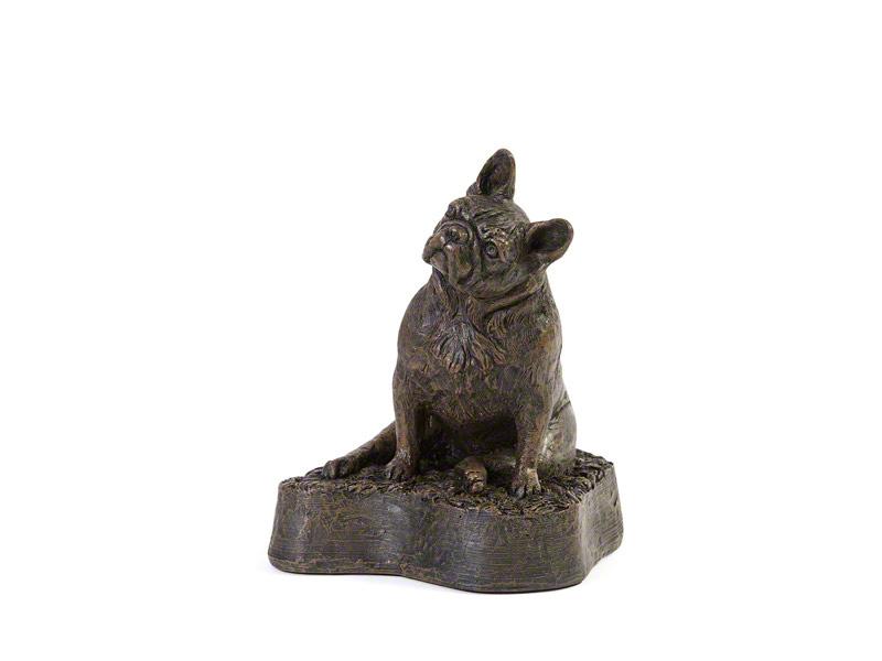 Hondenurn of Asbeeld Zittende Franse Bulldog (0.5 liter)