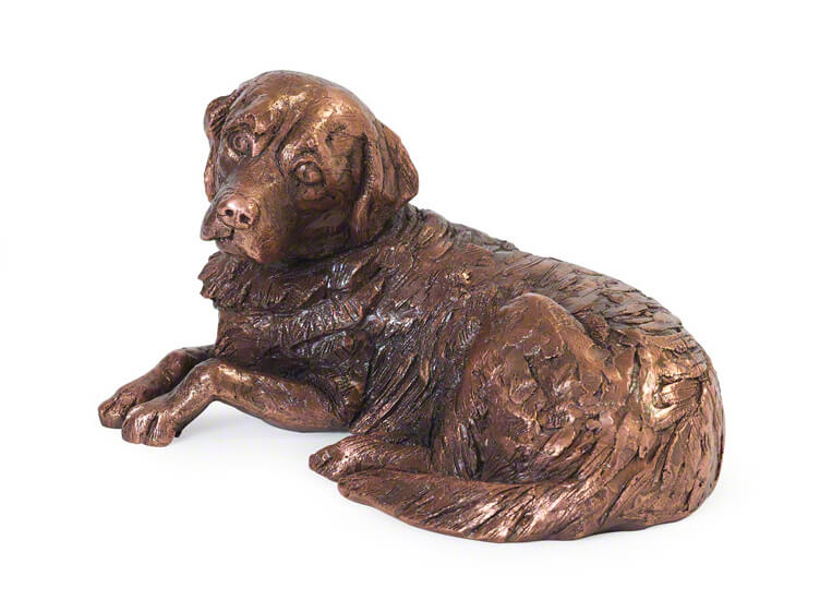 Mini Hondenurn of Asbeeldje Golden Retriever (0.01 liter)