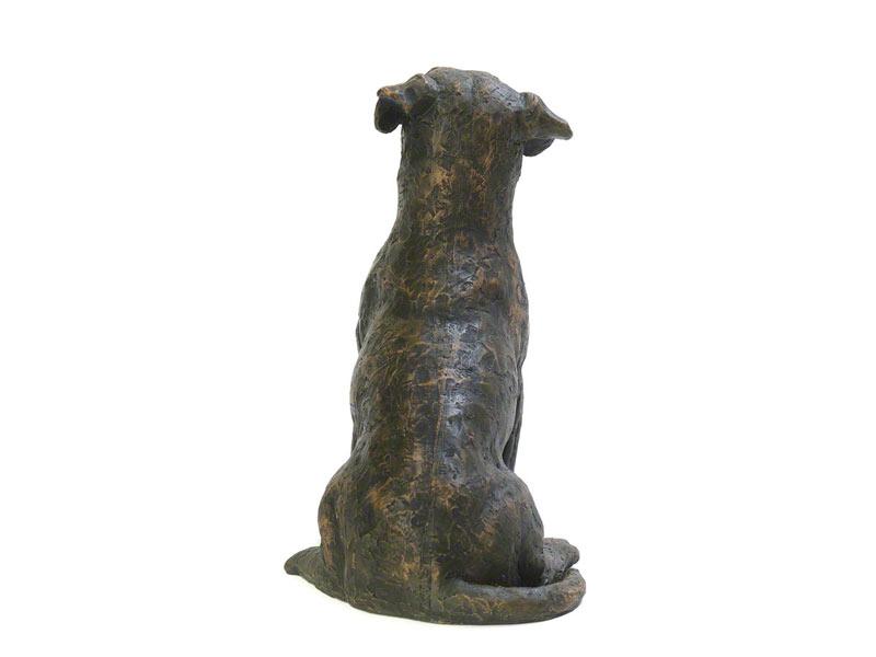 Hondenurn of Asbeeld Zittende Jack Russell (2.3 liter)