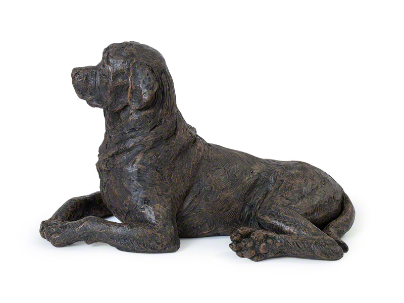Hondenurn of Asbeeld Liggende Rottweiler (2.6 liter)